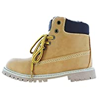 Kidsway Boys Dunster Boots - Lace Fastening Walking Boot Tan