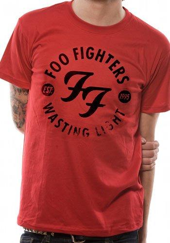 Collectors mine - foo fighters - wasting light, t-shirt da uomo, manica corta, collo rotondo, rosso(rot (rot)), taglia produttore: xxl