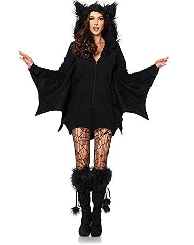 Honeystore Damen's Halloween Kostüm Horror Kostüm Zombie-Vampir-Kostüm Teufel Kostüm Maskerade Schwarz (Vampire Zombie-kostüme)