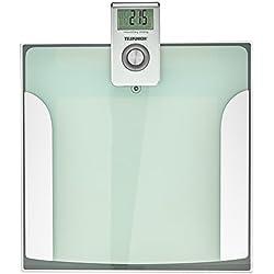Telefunken Display 15628grasso corporeo bilancia con percentuale d' acqua, argento