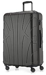 Suitline großer Hartschalen-Koffer Koffer Trolley Rollkoffer XL Reisekoffer, TSA, 76 cm, ca. 86 Liter, 100% ABS Matt, Graphite/Grau