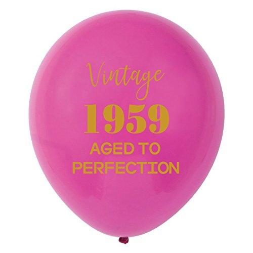 Rosa Vintage 1959Luftballons-30,5cm (16) Frauen Gold 59th Geburtstag Party Dekorationen oder Supplies