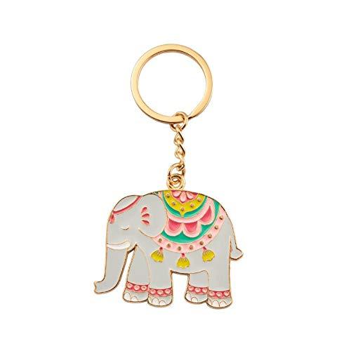Llavero con diseño de elefante y mandala de Sass y Belle