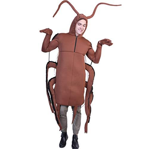 Lustiges Performance-Kostüm für Halloween, Party, Cosplay, Unisex, Erwachsene, 3D Hot Dog, Poo, Karotten, Hummerer, Erbse, Schabe, Promotion-Kleidung, Cockroach, Größe (Karotte Unisex Für Erwachsene Kostüm)