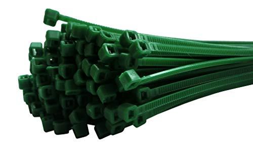 Fix&Easy Kabelbinder Set grün 2,5x100mm 100 Stück für Computer Auto Zaun PC