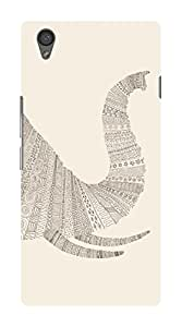 Koveru Designer Printed Protective Snap-On Durable Plastic Back Shell Case Cover for OnePlus X - Elephant white texture