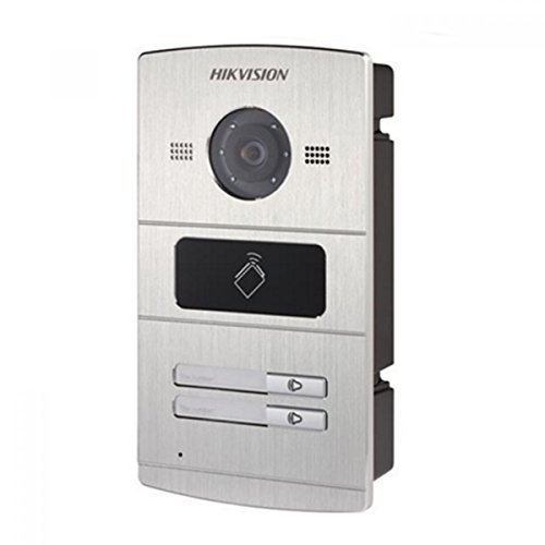 HIK466 - HIKVISION DS-KV8202-IM ALUMINIUM VIDEO INTERCOM, 1.3MP COLOUR CAMERA, CARD READER, 2 CALL BUTTON, IP65 W/ 2YR WARRANTY
