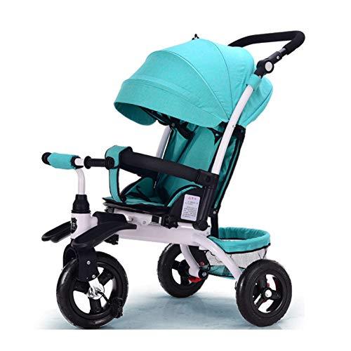 YINGH - 4 EN 1 cochecito triciclo para niños, Asiento ajustable grande y cómodo, el bebé puede sentarse...