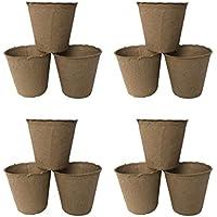 STOBOK 30 Piezas de iniciadores de Plantas Semillas de turba macetas Kit germinación bandejas de plántulas macetas biodegradables ecológicas para Plantas de Interior al Aire Libre (8x8 cm)