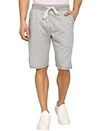Abof Men Light Grey Melange Regular Fit Shorts
