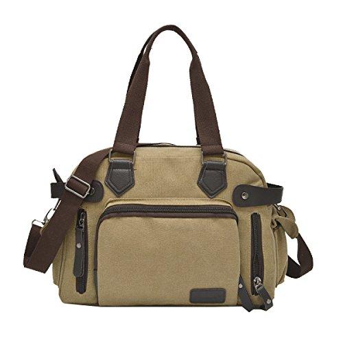 Yy.f Männer Segeltuchtasche Mode Gezeiten Tasche Umhängetasche Diagonal Handtasche Herrenballen Reisetaschen. Mehrfarbig Black