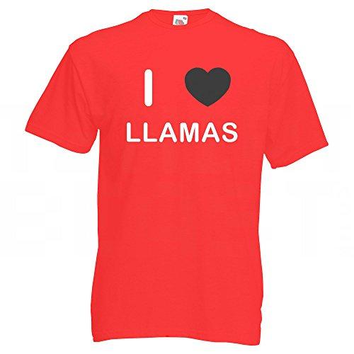 I Love Llamas - T-Shirt Rot