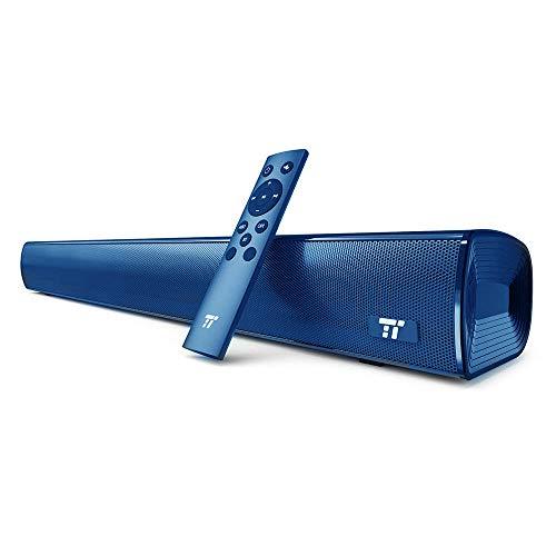 TaoTronics TV Soundbar Bluetooth 4.2 25 pollici con Pulsanti e Telecomando Wireless and Wired Doppia Connessione Possibilità di Montaggio a Muro