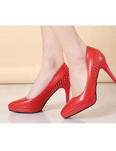 GS~LY Da donna-Tacchi-Casual-Tacchi-A stiletto-PU (Poliuretano)-Nero / Rosso / Bianco red-us7.5 / eu38 / uk5.5 / cn38