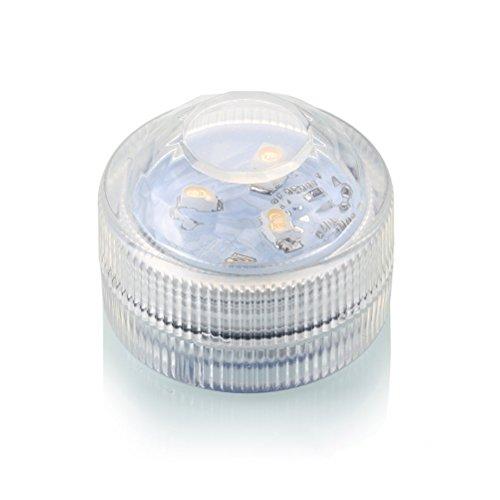 LEDMOMO Luces Sumergibles del LED, Luces Subacuáticas con Pilas Impermeables del LED con Teledirigido, Decoración Floral del Banquete de Boda