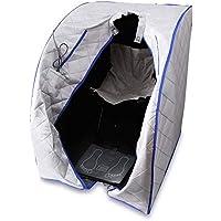 NO LOGO HMLSM - Silla plegable portátil para sauna infrarrojo lejano, ideal para adelgazar, terapia de iones negativos, desintoxicación personal, sauna, silla plegable