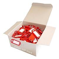 Wedo clave 262803400plástico con ganchos, extraíble etiquetas (paquete de 100)
