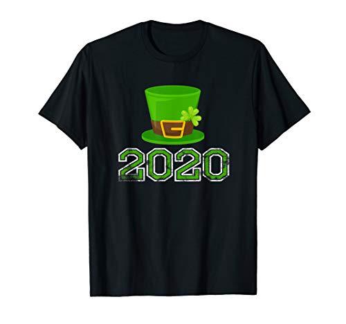 2020 St. Patrick's Hut Grünes Kleeblatt Klee Irischer Humor T-Shirt