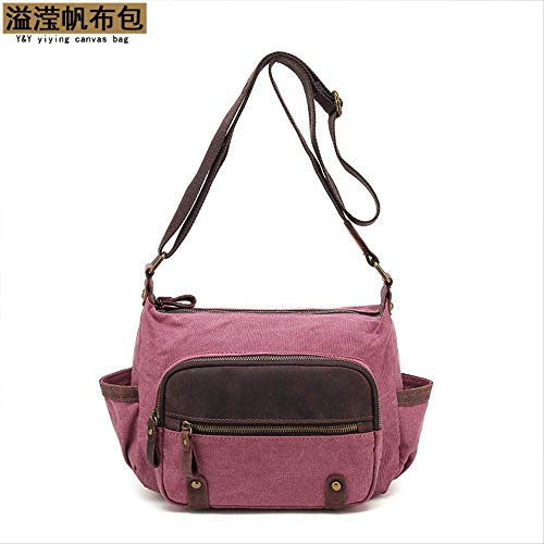 VBNM Rucksack Beiläufige Crossbody Schulter Kuriertasche Business Collection Wallet Rose Red
