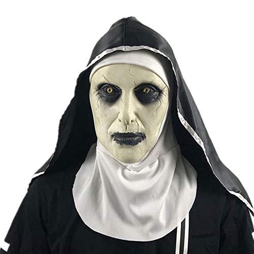 Edelehu Schwester Zombie Halloween Maske Scary Gruselige Horror Cosplay Kostüm Bandana Latex Scary Kopf Zombie Maske