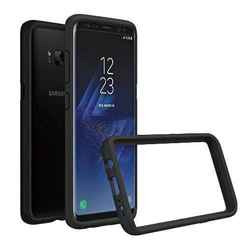 RhinoShield Coque pour Samsung Galaxy S8+ [Bumper CrashGuard] Housse Fine avec Technologie Absorption des Chocs - [Résiste aux Chutes de Plus de 3,5 mètres] - Noir