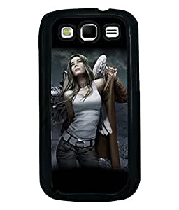 Fuson Feather Girl Back Case Cover for SAMSUNG GALAXY S3 - D4044