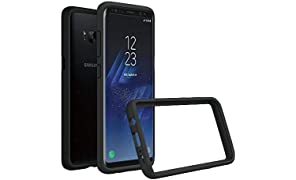 RhinoShield Bumper Case FOR GALAXY S8 Plus [Crashguard] | Shock Absorbent Slim Design Protective Cover - Compatible w/Wireless Charging [3.5M/11ft Drop Protection] - Black