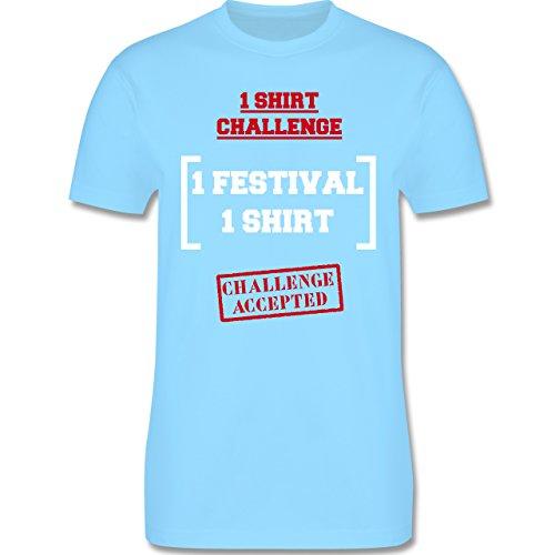 Festival - 1 Shirt Festival Challenge - Herren Premium T-Shirt Hellblau