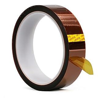 Kapton Band Temperaturbeständiges Kapton Tape Polyimid Film Klebeband 33M Länge für 3D Drucker Hohe Maskierung, Löten, Pulverbeschichten, Sublimation und Isolierende Leiterplatten von Aixin (2cm X 33M)
