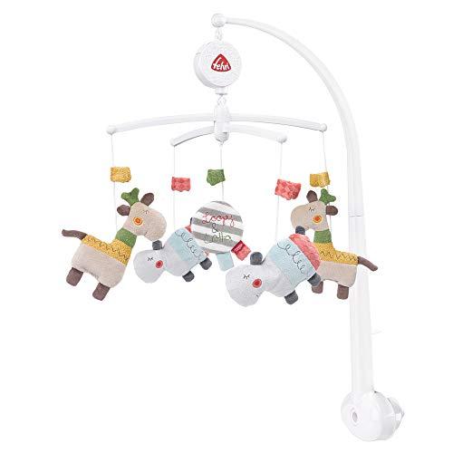 Fehn 059021 Musik-Mobile Loopy & Lotta - Mobile mit sanfter Melodie und flauschigen Figuren - Mit Befestigung - Für Babys von 0-5 Monaten - Größe: Ø 40 cm, Höhe: 65 cm