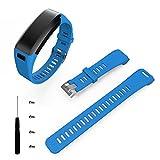 Garmin Vivosmart HR Armband, SHOBDW Mode Sport Silikon Band Strap Armband + Werkzeug für Garmin Vivosmart HR (Blau, 170-220mm)
