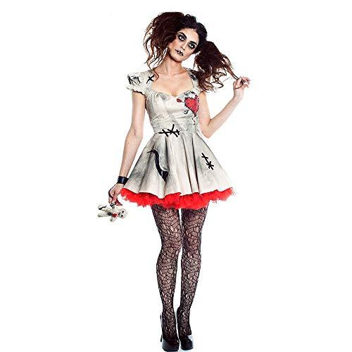 Halloween Cosplay Porzellan Doll Kostüm, Zirkus Clown Kostüm, Ghost Festival Party Ghost Bridal ()