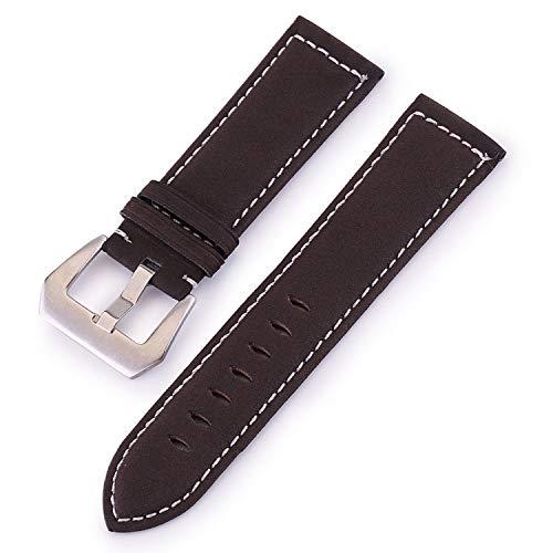 Uhrenarmband Retro Matte Lederarmband 18mm 20mm 22mm 24mm Armband Zubehör Männer Frauen Braun Schwarz Rot Henziy-Uhrenarmband-Strap9060 Grün Band Uhrband -