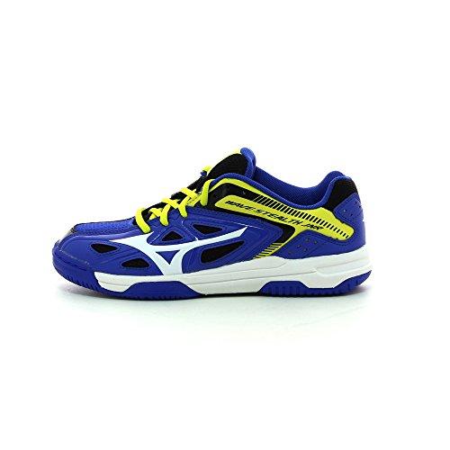 Mizuno Jr Wave Stealth 3 Jungen Handballschuhe blau - weiß - gelb
