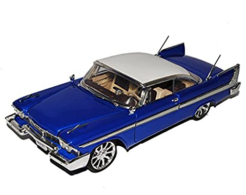Plymouth Fury Coupe 1958 Blau Weiss Custom Version 1/18 Motormax Modell Auto