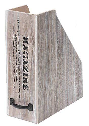 LS Design Shabby Zeitungsständer Zeitschriftenständer Magazinständer Magazinhalter Holz