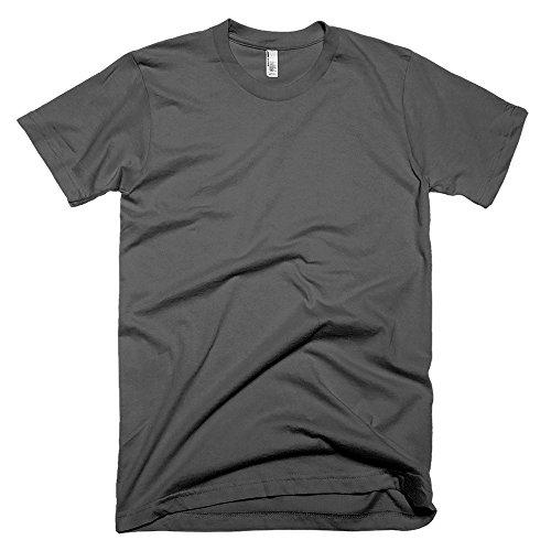 American Apparel Unisex Baumwoll-T-Shirt, Kurzarm (Medium) (Asphalt) (Apparel Asphalt American)