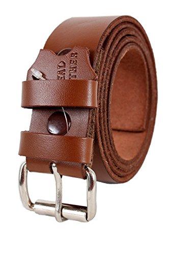 Belt Buckles D'origine Cuir De Fixation Qualité Courroie Marron - Marron, S = Tour de taille 71-81cm