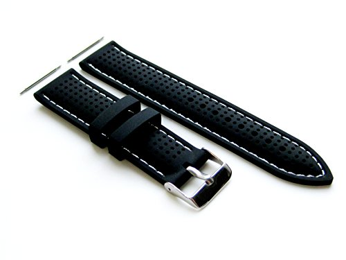 22mm-rubber-ergonomic-replacement-strap-band-with-pins-and-stainless-steel-buckle-for-luxury-sports-