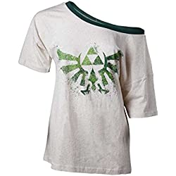 The Legend of Zelda T-Shirt Skyward Sword Triforce da donna in bianco crema