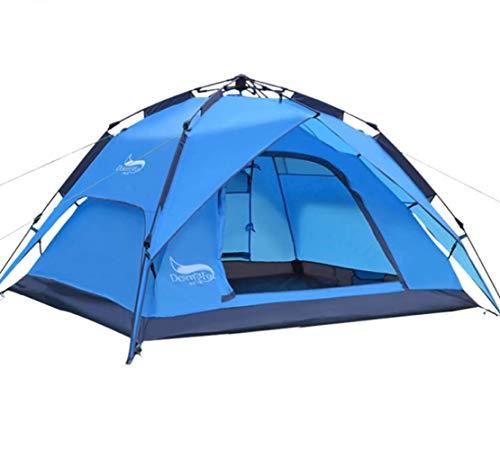Tente De Camping en Plein Air pour 3-4 Personne Tent Tente De Voyage Durable Imperméable avec Sac De Transport
