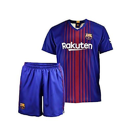 Uniforme F.C. Barcelona réplica oficial junior 2017-18. Unisex.Réplica oficial autorizada con etiqueta y copyright del club.