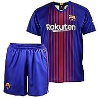Conjunto - Kit 1ª Equipación Replica Oficial FC BARCELONA 2017-2018 Sin Dorsal LISO - Tallaje NIÑO (12 AÑOS)