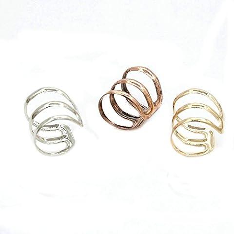 Damen Ohrklemme Metalllegierung Ohr Klammern Ohrclip für Frauen Silber - Einzeln AnaZoz Schmuck