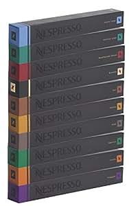 Nespresso Lot de 100 capsules de café Varié