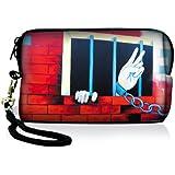 Luxburg® Design Universal Kameratasche Hülle Sleeve Case für kompakte Digitalkamera, Motiv: Schmetterlinge im rosa Licht