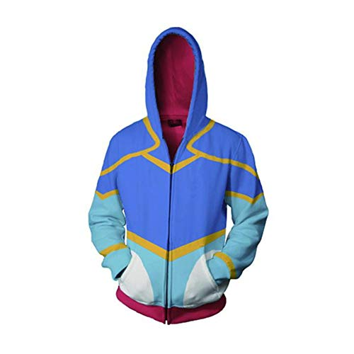 RJHWY 3D Hoodie Sweatshirt Unisex Pullover Kapuzenjacke Kleidung Mantel Reißverschluss Anime Top Voltron XS
