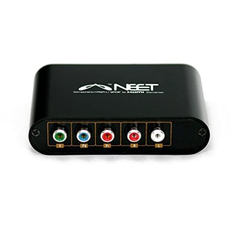 Neet® - Component (YPbPr) to HDMI Converter - plus Stereo R/L Audio - Supports 1080p Full HD - Lifetime