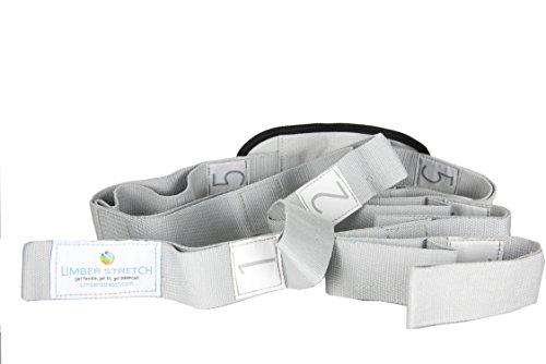 8e5c94532fb Limber Stretch Flexibility Stretch Strap mit Schlaufen für Training und  Heilung. Yoga Strap und Fitnessband