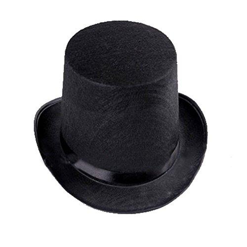thematys® Cilindro Uomini Cappello Donna Nero - Costume da adulto - perfetto per il Carnevale e Halloween - Unisex, Solo una taglia